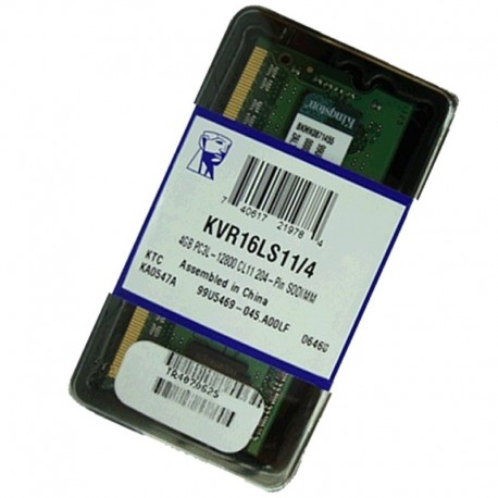 KVR16LS11/4 KINGSTON SODIMM 4GB 1600MHZ.