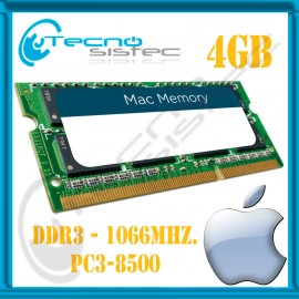 MEMORIA PC3-8500 4GB UNIBODY MACBOOK - MAC MINI