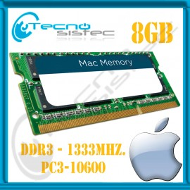 MEMORIA PC3-10600 8GB UNIBODY MACBOOK - MAC MINI