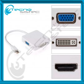 Adaptador Mini DisplayPort a VGA - DVI - HDMI