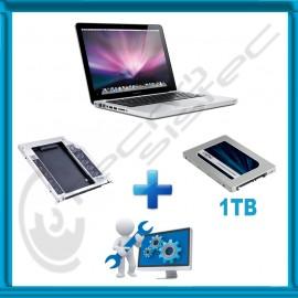 Kit de actualización MacBook Pro SSD 1Tb + Caddy + Servicio de instalación