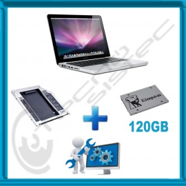 Kit Actualización Macbook Pro SSD 120GB + Caddy + Servicio de instalación