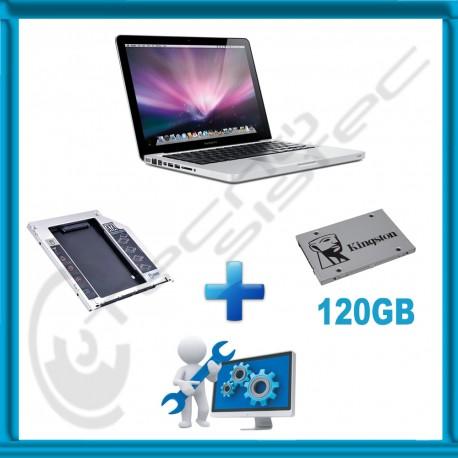 Kit Actualización Macbook Pro SSD 120GB + Caddy + Servicio de instalación