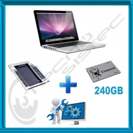 Kit Actualización Macbook Pro SSD 240GB + Caddy + Servicio de instalación