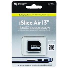 """Adaptador 8Mobility MicroSD iSlice para MacBook Air 13"""", aluminio (finales 2010 - principios 2015)"""