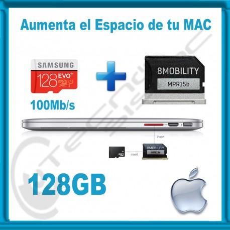 Upgrade de Almacenamiento para MacBook Air y Pro Retina 128GB