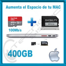 Upgrade de Almacenamiento para MacBook Air y Pro Retina 400GB