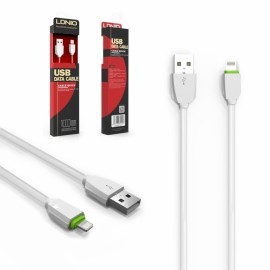 Cable USB lightning Iphone LDNIO LS07 1MT Blanco