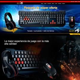 Kit Gaming Genius KMH-200 Teclado Mouse y Audifonos