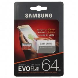 MicroSDXC UHS-I SAMSUNG EVO PLUS 64GB C/ADP MB-MC64GA