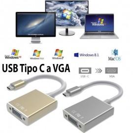 Adaptador USB Tipo C 3.1 a VGA (Hembra)