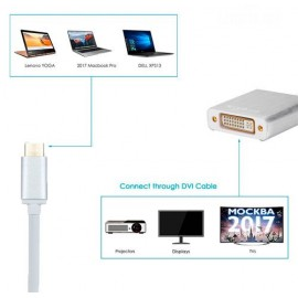 Adaptador USB 3.1 Type C a DVI 1080p MacBook Pro