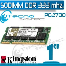 Kingston Sodimm DDR 1GB 333Mhz