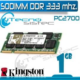 Kingston Sodimm DDR 1GB 333Mhz