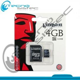 Memoria Micro SD Kingston 4GB Class 4