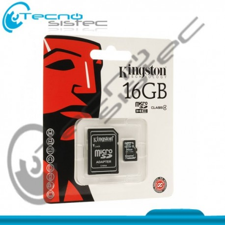 Micro SD HC 16GB Kingston Class 4