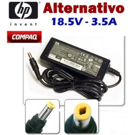Cargador HP Compaq Amarillo Alternativo 18.5V 3.5A