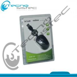 Mouse Delux Cable Retractil USB DLM-122