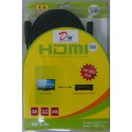 CABLE HDMI 5MT. FULL HD Y 3D 1.4V COLOR