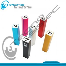 Bateria Externa Power Bank 2600Mah Metalica