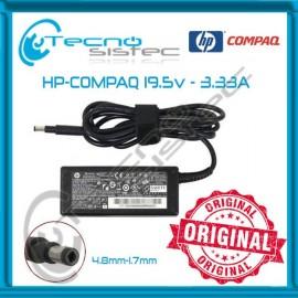 Cargador Hp Compaq 19.5V 3.33A 65W Ultrabook