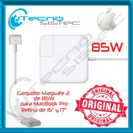 Cargador Apple 18.5V 4.6A 85W Magsafe 2 Retina