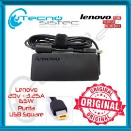 Cargador Lenovo Original 20V 3.25A 65W USB Square