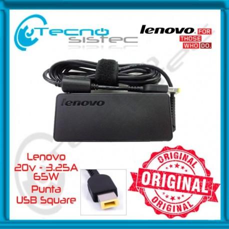 Cargador Lenovo 20V 3.25A 65W USB Square