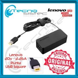 Cargador Lenovo Original 20V 2.25A 45W USB Square