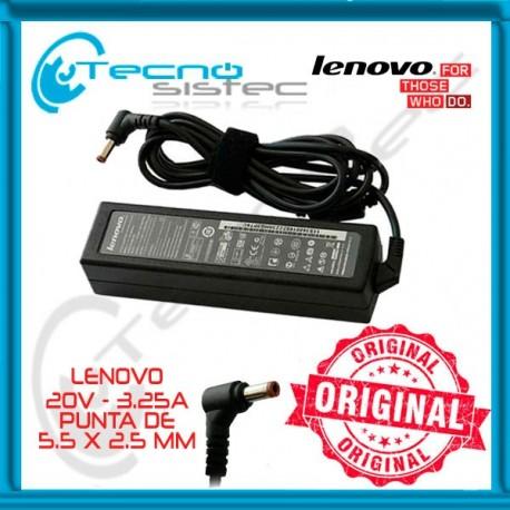 Cargador Lenovo 20V 3.25A 65W
