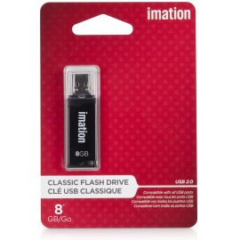Pendrive Imation 8GB Black USB 2.0 Classic Flash Drive