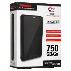 Disco Duro Externo 750GB Toshiba USB 3.0